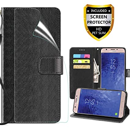 best cheap 70aa9 de9c8 Samsung Galaxy J3 2018 Wallet Case,J3 Achieve/J3 V 3rd Gen/J3  Star/Amp-Express Prime 3/Sol 3 Phone Case,Built-in Card Slots PU Waterproof  Holster with ...