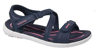 6f87c9a8fb42 Womens Ladies Walking Sandals   Navy Blue Sports Adventure Shoes PDQ ...