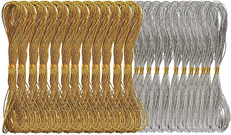 15 COLOUR Metallic Shiny Glitter Thread Hand Embroidery Craft Christmas BUY 1 2