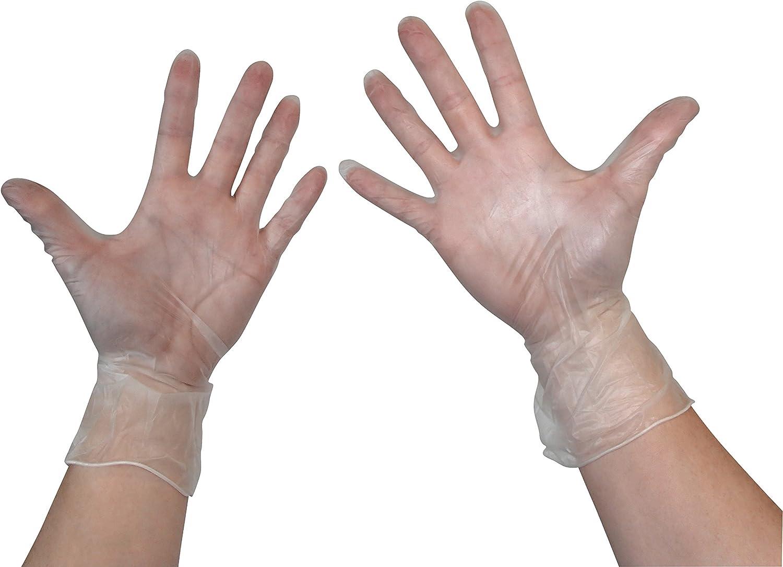 Sans latex Taille S//M//L//XL Non poudr/és convient aux personnes allergiques Lot de 100 ou 1000 gants jetables en vinyle