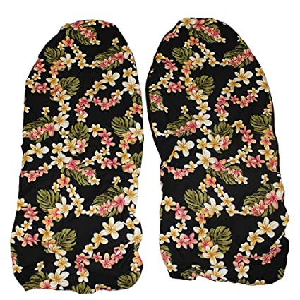 Hawaiian Car Seat Covers >> Hawaiian Car Seat Covers Black Plumeria Set Of 2 Front Bucket Seat Covers Made In Hawaii Usa