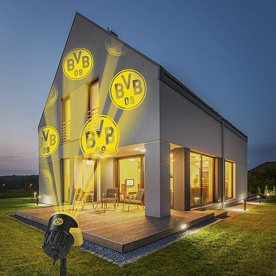 Borussia Dortmund Logo Projektor Fanartikel Led Motivstrahler Bvb Logo Beleuchtung Fur Borussia Dortmund Supporter Gelb Schwarz