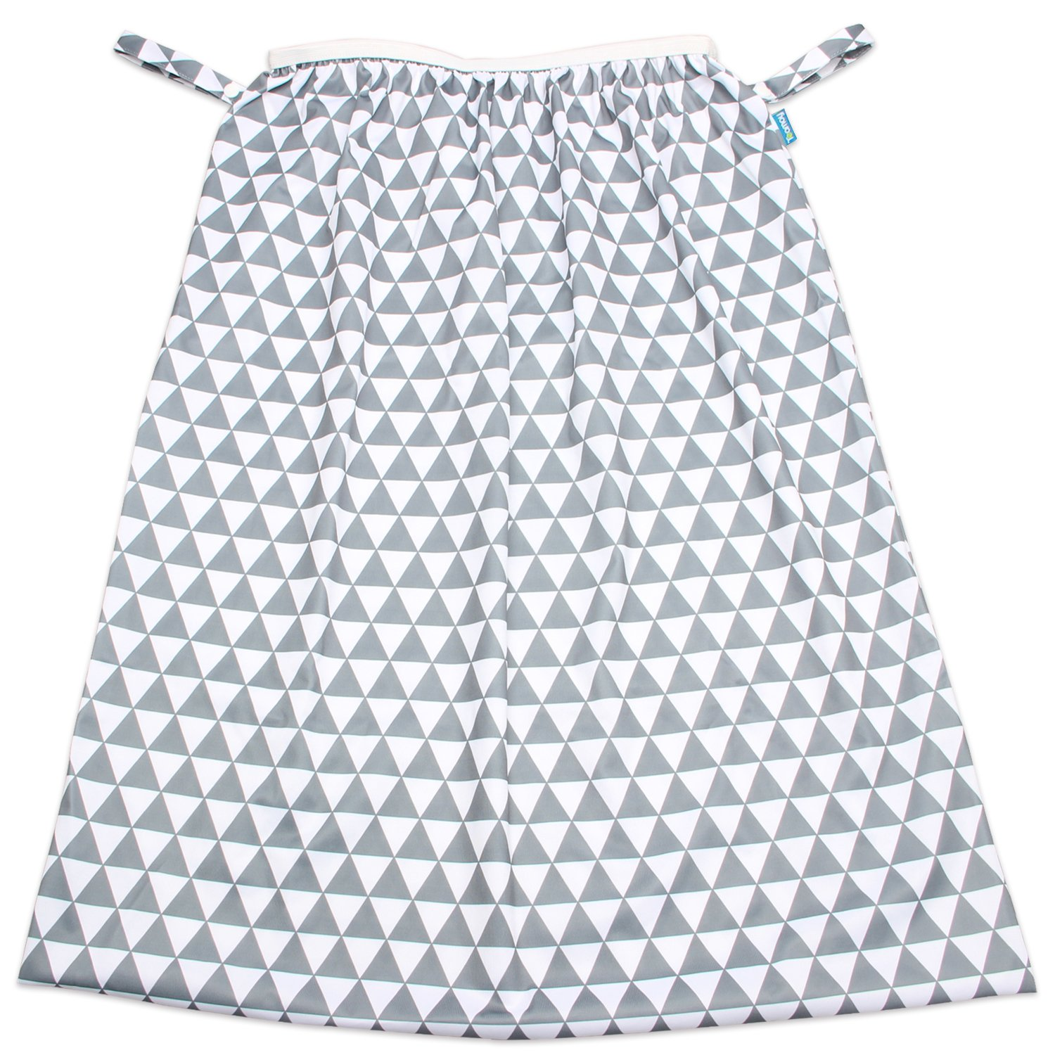 Teamoy Reusable Pail Liner for Cloth Diaper/Dirty Diapers Wet Bag, Gray Triangle