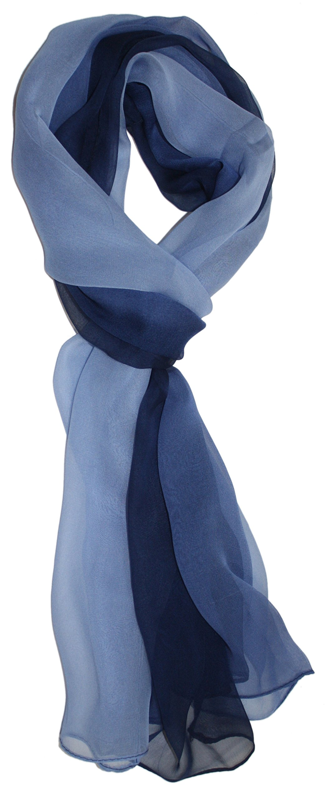 Ted and Jack - Silk Ombre Lightweight Accent Scarf (Blue Hues)