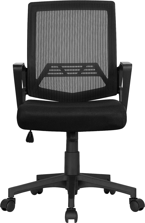 Yaheetech B/ürostuhl Ergonomischer Schreibtischstuhl Drehstuhl Computerstuhl Chefsessel office Stuhl stufenlos h/öhenverstellbar Grau