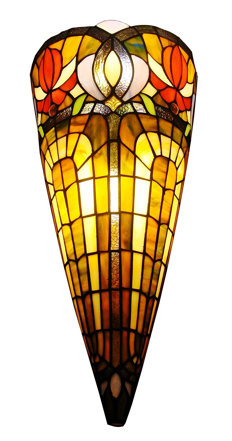 Amora lighting am1079wl10 tiffany style 2 light wall crowned amora lighting am1079wl10 tiffany style 2 light wall crowned sconce amazon amipublicfo Gallery