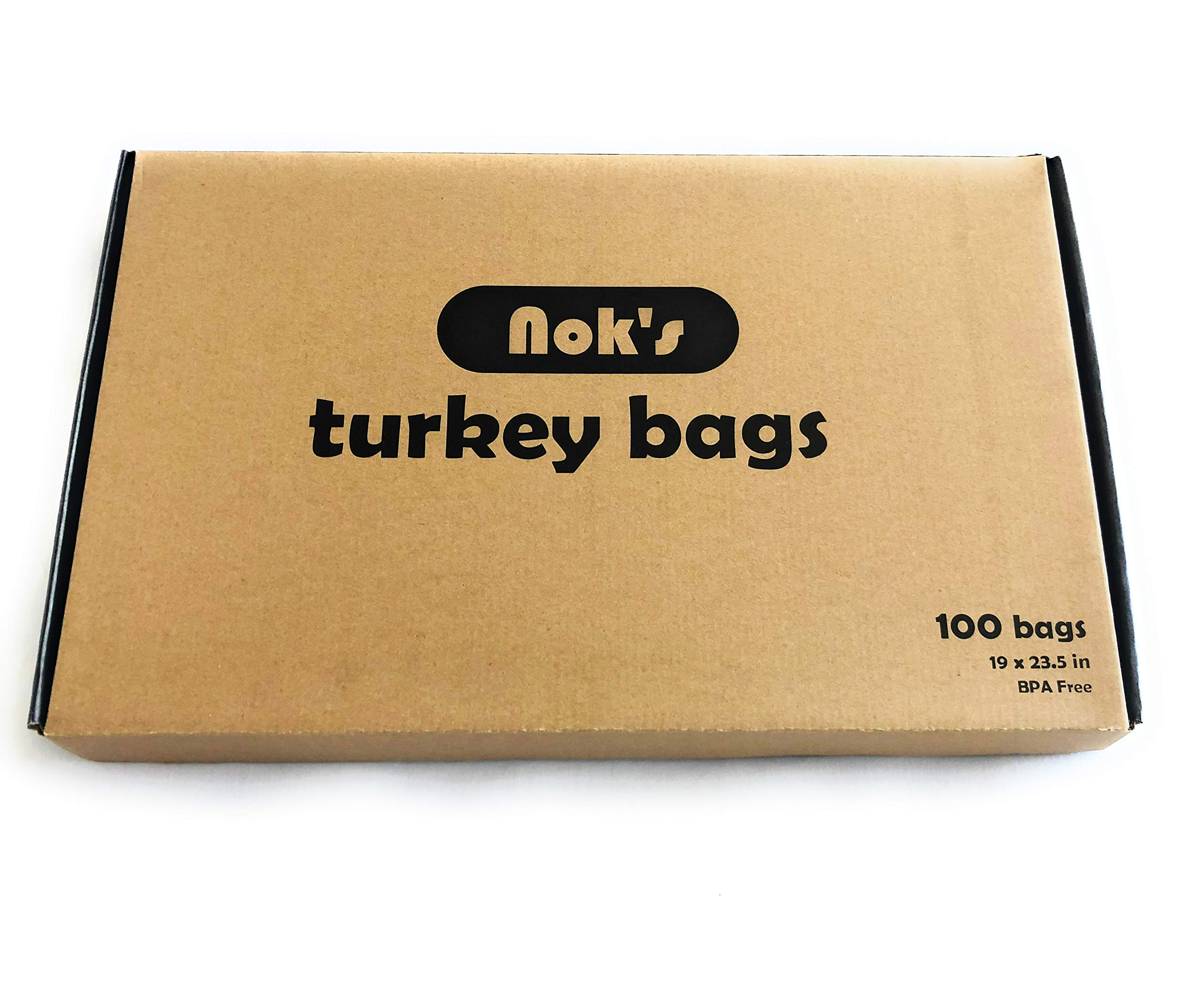 Oven Bags Large Turkey Size - 100 counts, 23.5 x 19 Inch - Kitchen and Garden Bag By Nok's Bag