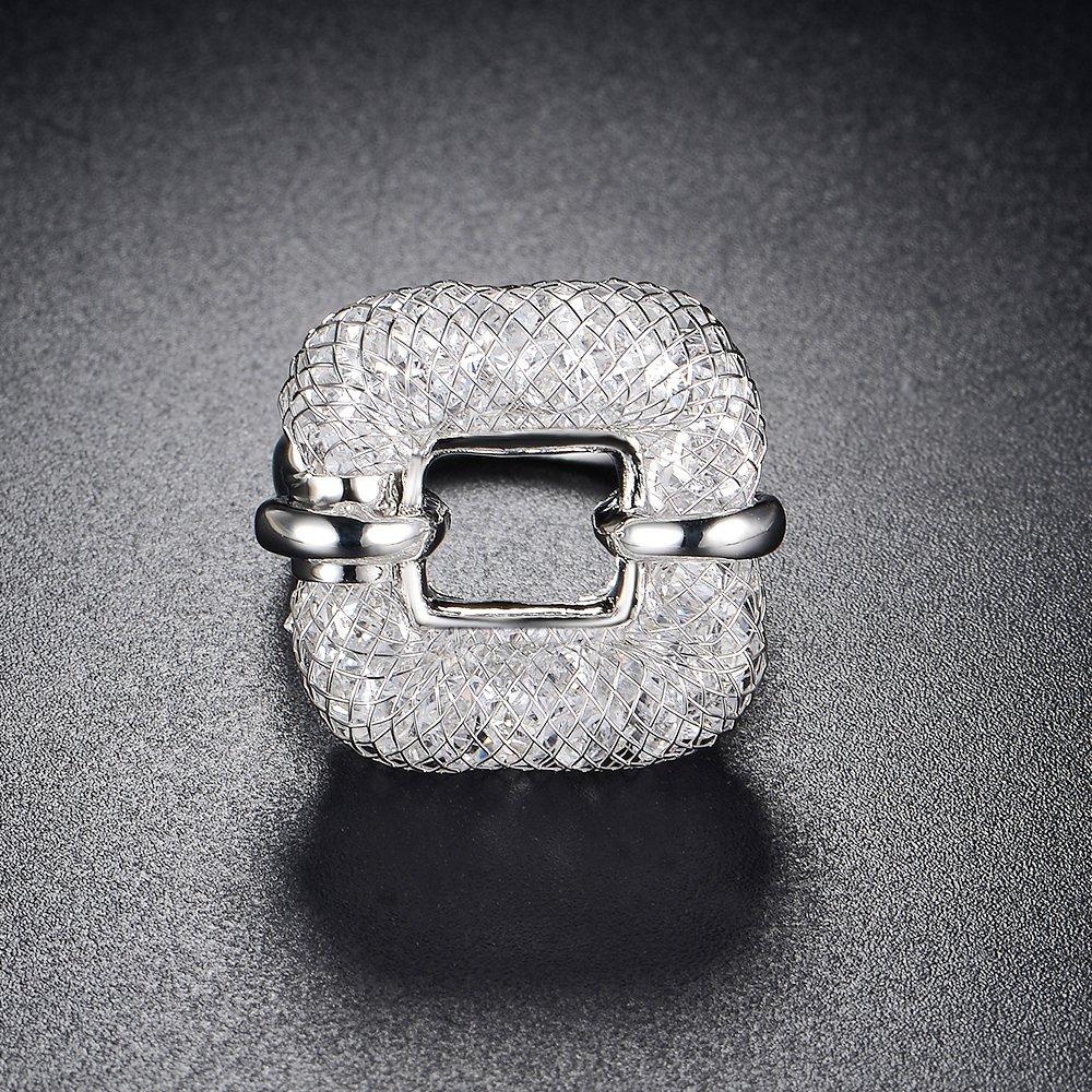 mytysun Grand Anneau Bague pour Femme en Swarovski Elements Bagues de déclaration pour Dames Femmes Vintage Bagues Bague Large en Cristal Cadeaux …