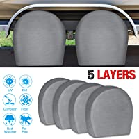 $29 » RVMasking Tire Covers for RV Wheel Set of 4 Extra Thick 5-ply Motorhome Wheel Covers,…