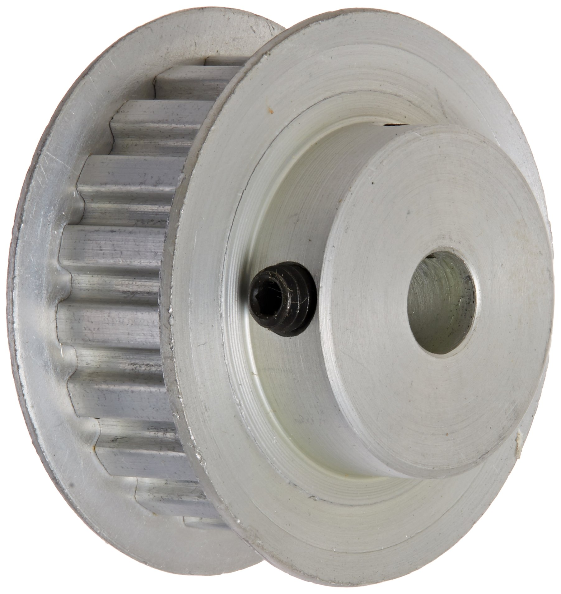 Gates PB19XL037 PowerGrip Aluminum Timing Pulley, 1/5'' Pitch, 19 Groove, 1.210'' Pitch Diameter, 1/4'' to 1/2'' Bore Range, For 1/4'' and 3/8'' Width Belt