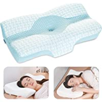 Elviros Cervical Pillow, Memory Foam Bed Pillows for Neck and Shoulder Pain Relief, Adjustable Ergonomic Orthopedic…