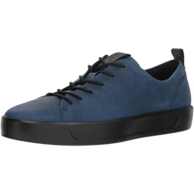 ECCO Men's Soft 8 Tie Fashion Sneaker, indigo black, 41 M EU (7-7.5 US) | Fashion Sneakers