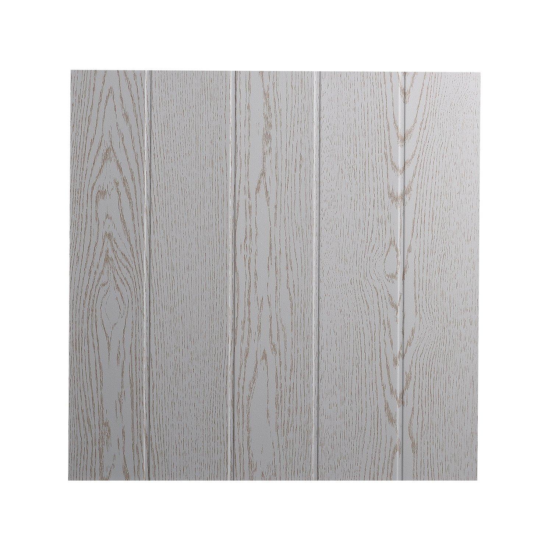 Decosa Dalle de plafond Athen, frê ne blanc 50 x 50 cm - PRIX SPECIAL LOT de 10 sachets (= 20m2) frêne blanc 50 x 50 cm - PRIX SPECIAL LOT de 10 sachets (= 20m2) Saarpor