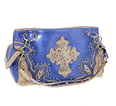 E Croce Tasche Blau Messico Nuvole Beige Umhängetasche Damen n0kw8OP