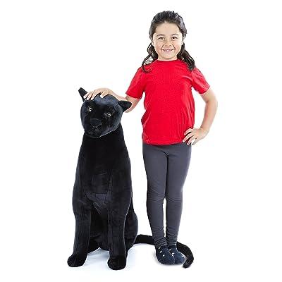 Melissa & Doug Giant Panther - Lifelike Stuffed Animal (nearly 3 feet tall): Melissa & Doug: Toys & Games