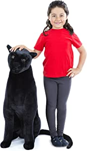 Melissa & Doug Giant Panther - Lifelike Stuffed Animal(nearly 3 feet tall)