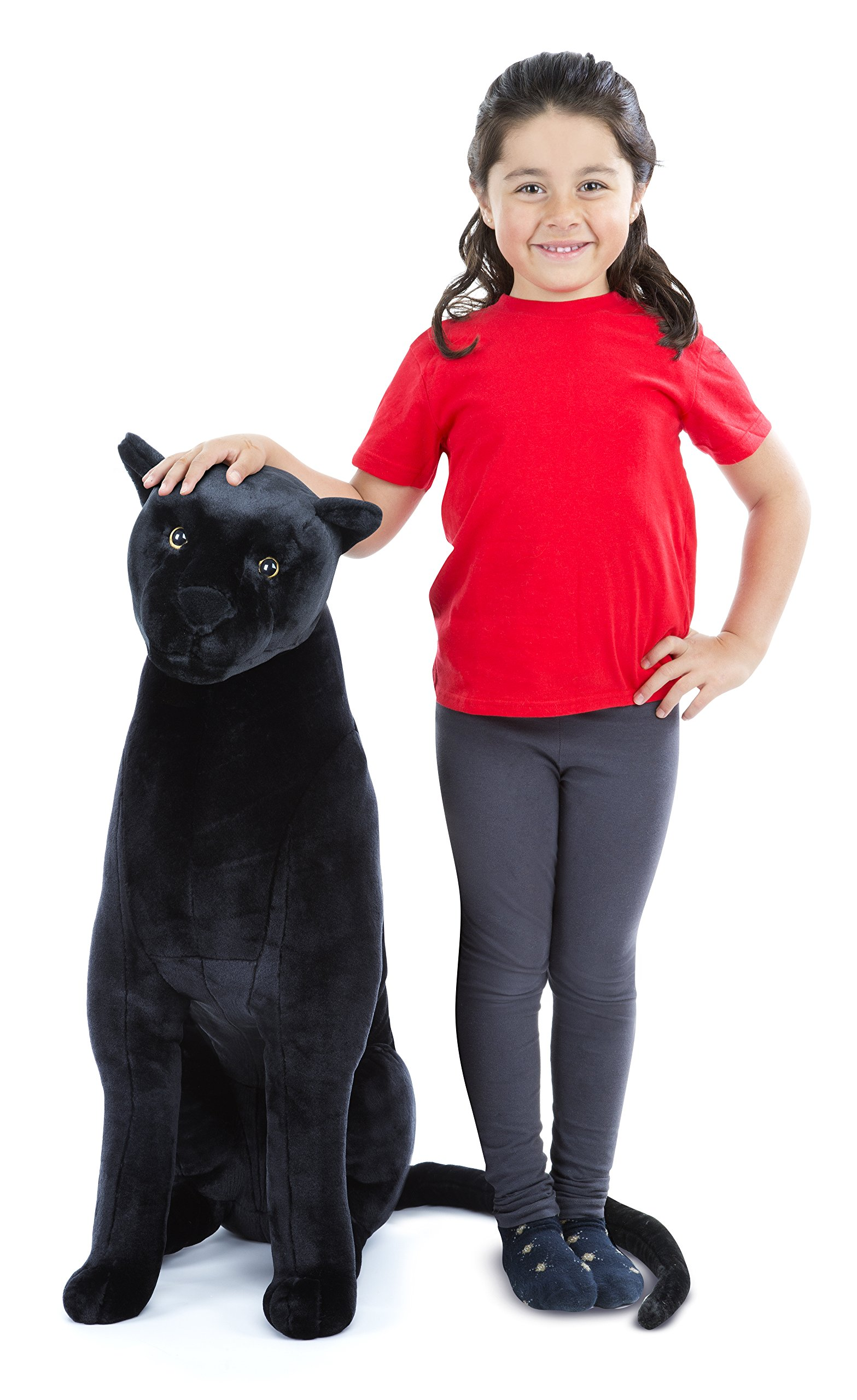 Melissa & Doug Giant Panther - Lifelike Stuffed Animal  (nearly 3 feet tall) by Melissa & Doug