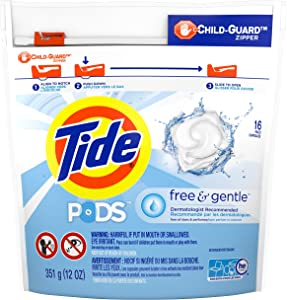 Tide Pods Free & Gentle - 16Count, 14 oz