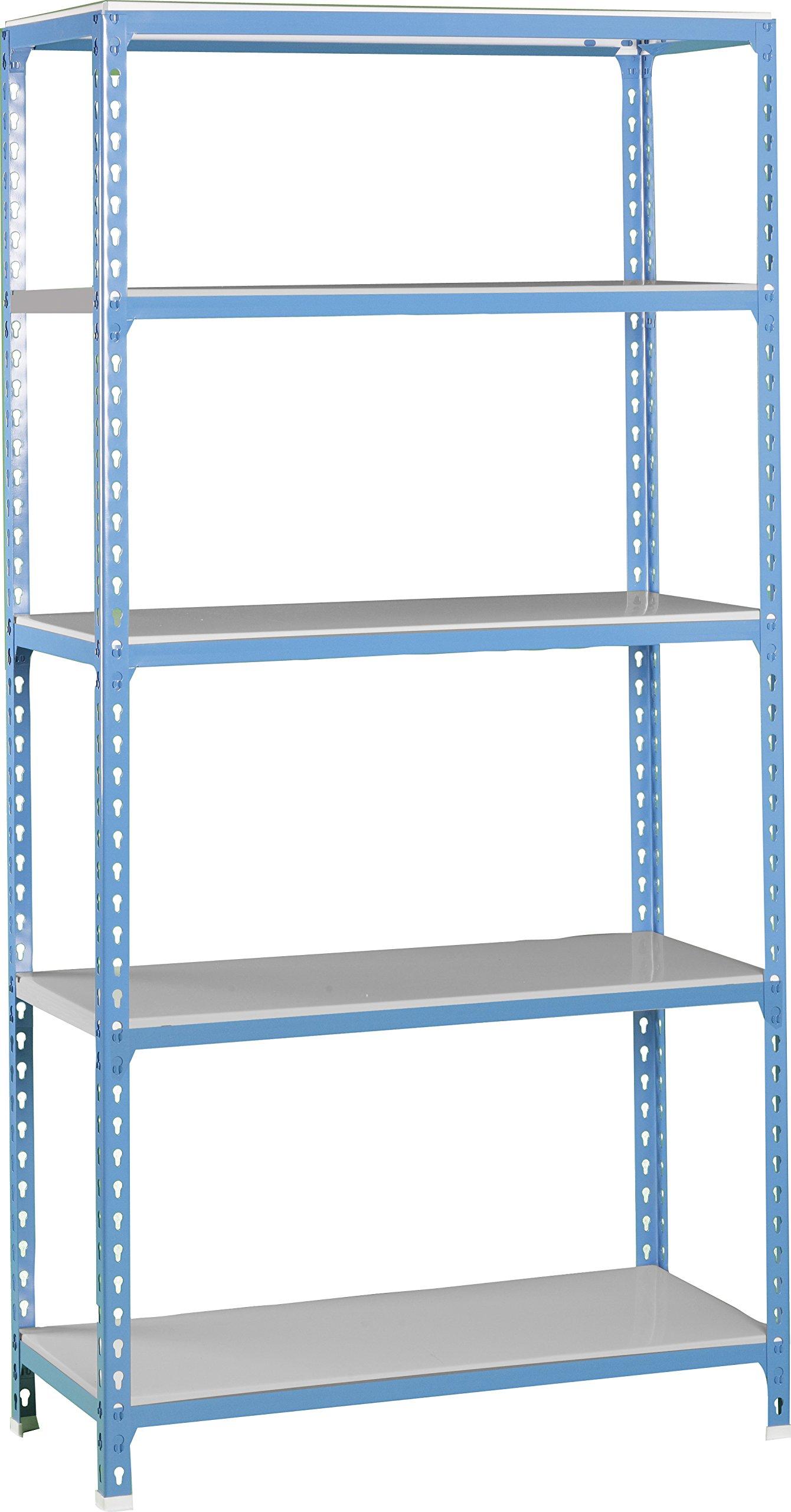 Simonrack 5/400 Simonclick Kit Plus Shelf, Blue/Galvanized