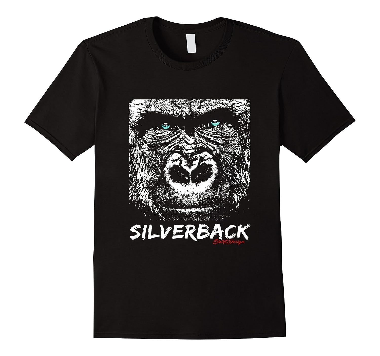Silverback Gorilla Green Eyed T-Shirt Design-Teehay