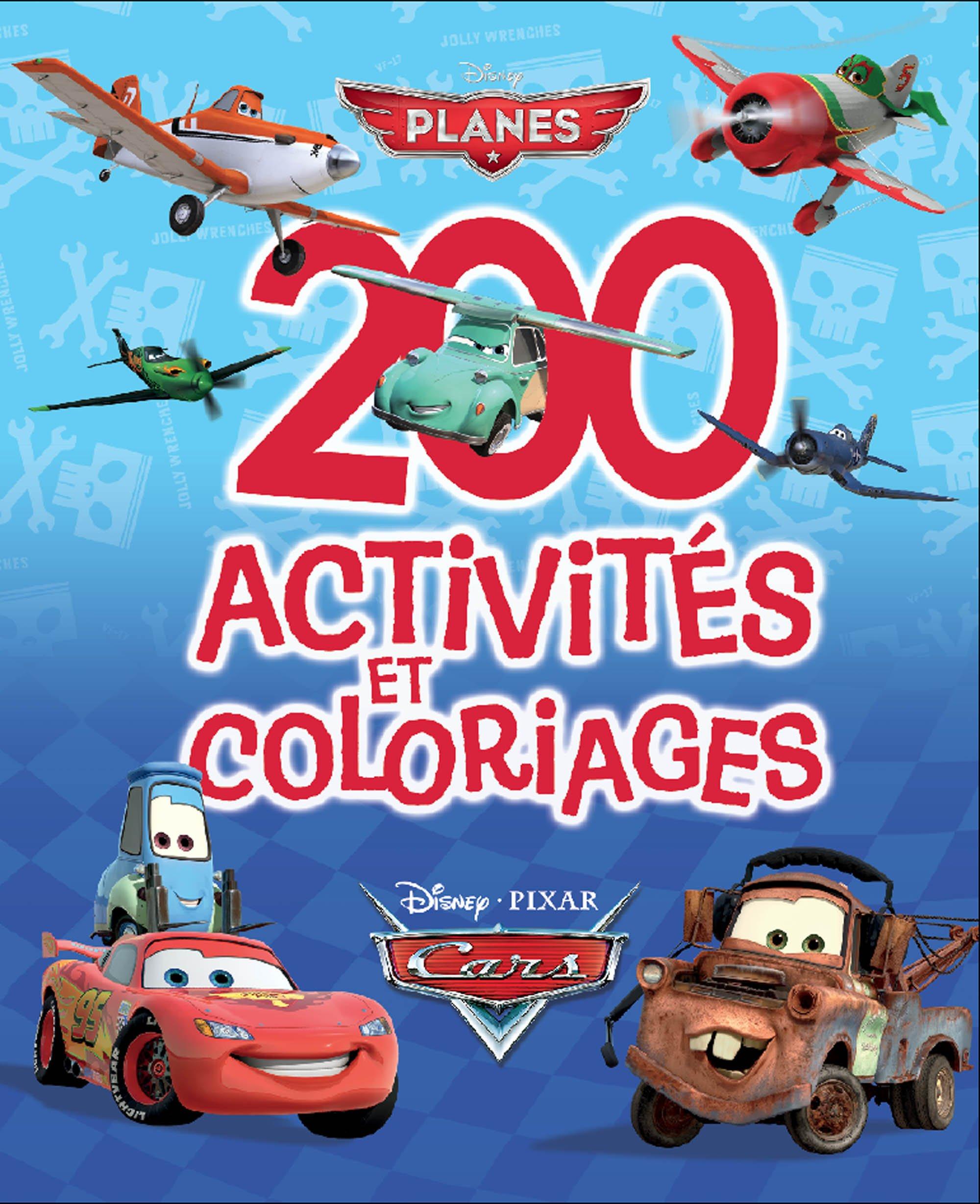 Amazonfr 200 Activités Et Coloriages Cars Et Planes