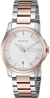 Gucci Swiss Quartz Stainless Steel Dress Watch, Color(Model: YA126528)
