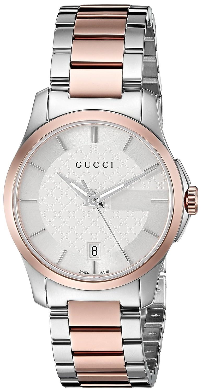 7fb68389a35 Amazon.com  Gucci Swiss Quartz Stainless Steel Dress Watch