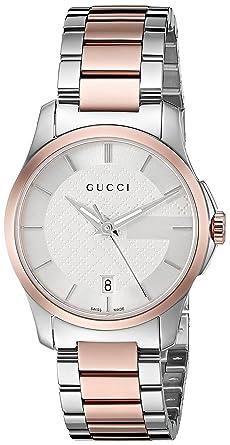 27645f9adb2 Amazon.com  Gucci Swiss Quartz Stainless Steel Dress Watch