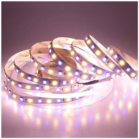 Węże i łańcuchy świetlne Dom i Meble 5m 24V LED Licht Streifen 4in1 RGB+WW Warmweiss Stripe dimmbar RGBWW Leiste Band