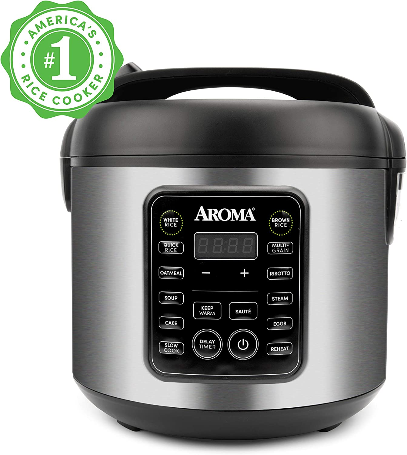 Aroma Housewares ARC-5200SB 2O2O model, Rice, Grain, Saute Pan, Slow Cooker, Steamer, Stewpot, Oatmeal, Risotto, Soup Maker, 20 cup cooked / 10 cup uncooked / 4QT, Stainless Steel