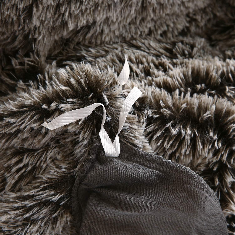 Queen,White XeGe Plush Shaggy Duvet Cover Luxury Ultra Soft Crystal Velvet Bedding Set 1PC 1 Faux Fur Duvet Cover ,Zipper Closure