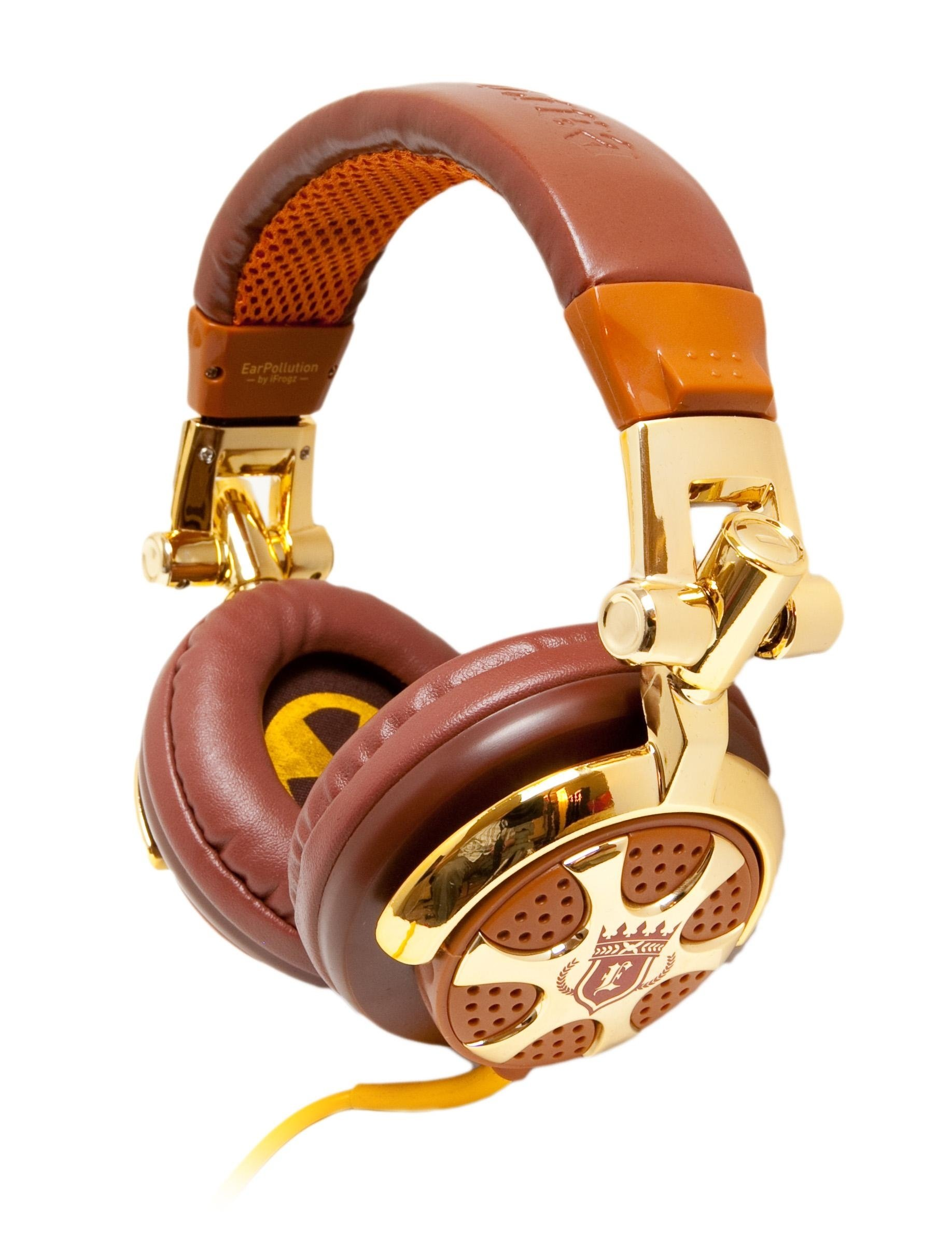 iFrogz EarPollution DJ-Style Billionaire Headphones for all Smartphones, Tablets and Audio devices