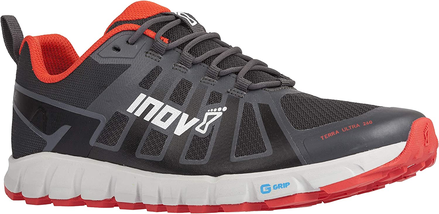 Inov-8 Mens Terraultra 260 Minimalist Trail Running Shoe Zero Drop Perfect for Long Distance Ultra Running