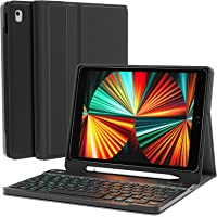 iPad Keyboard for 10.2'' 8th/7th Generation Case with Keyboard - Keyboard for iPad with Backlit, BT, Keyboard and Built…