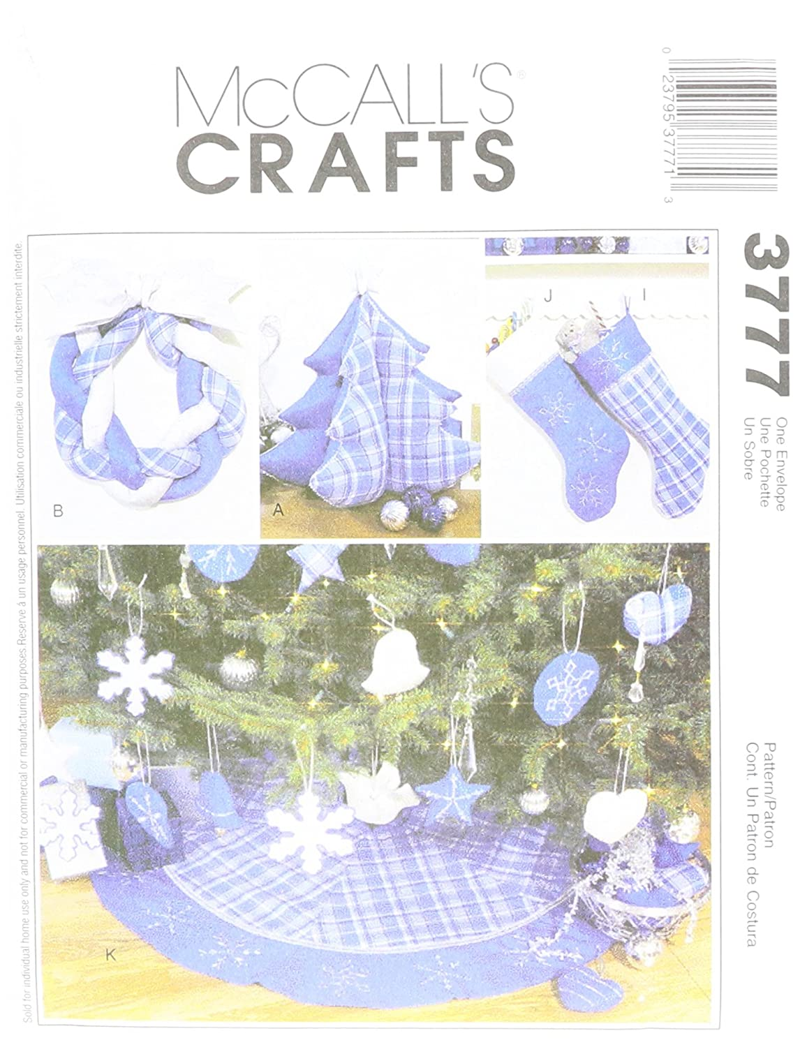 McCall's Patterns M3777 Christmas Decorating, One Size Only McCall Pattern Company M3777OSZ