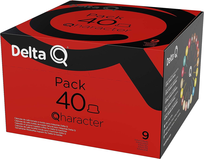 Delta Q - Pack XL Qharacter 40 Cápsulas de Café - Intensidad Alta ...