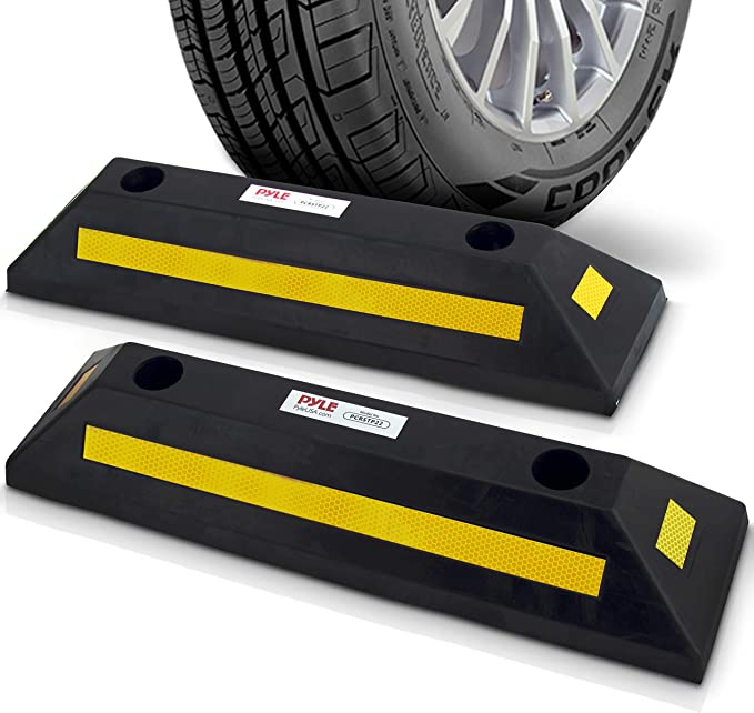 "Heavy Duty 21/"" Rubber Parking Curb Guide Car Garage Wheel Stop Stoppers /& Screw"