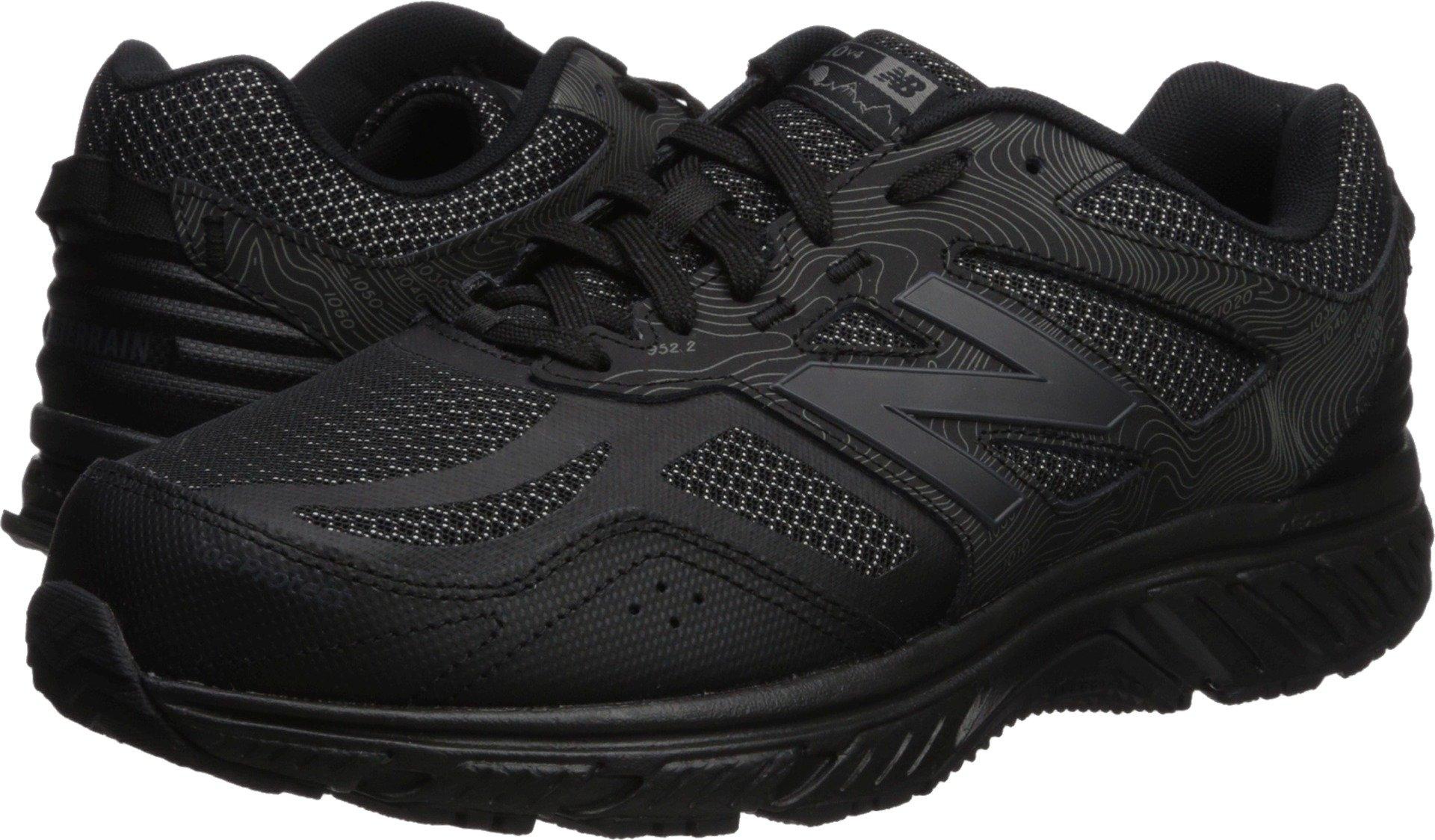 New Balance Men's 510v4 Cushioning Trail Running Shoe, Black, 10.5 4E US by New Balance