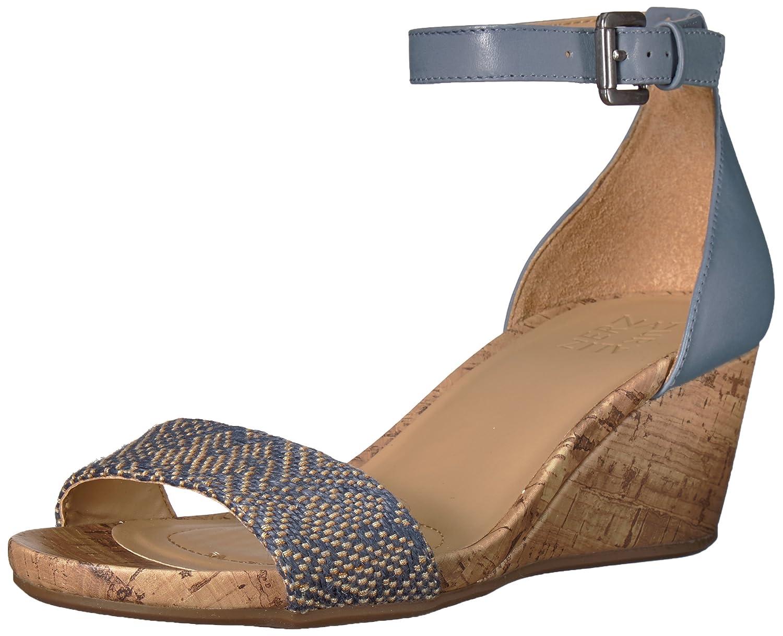 Naturalizer Women's Cami Wedge Sandal B078DPCG1J 5 B(M) US|Blue/Multi