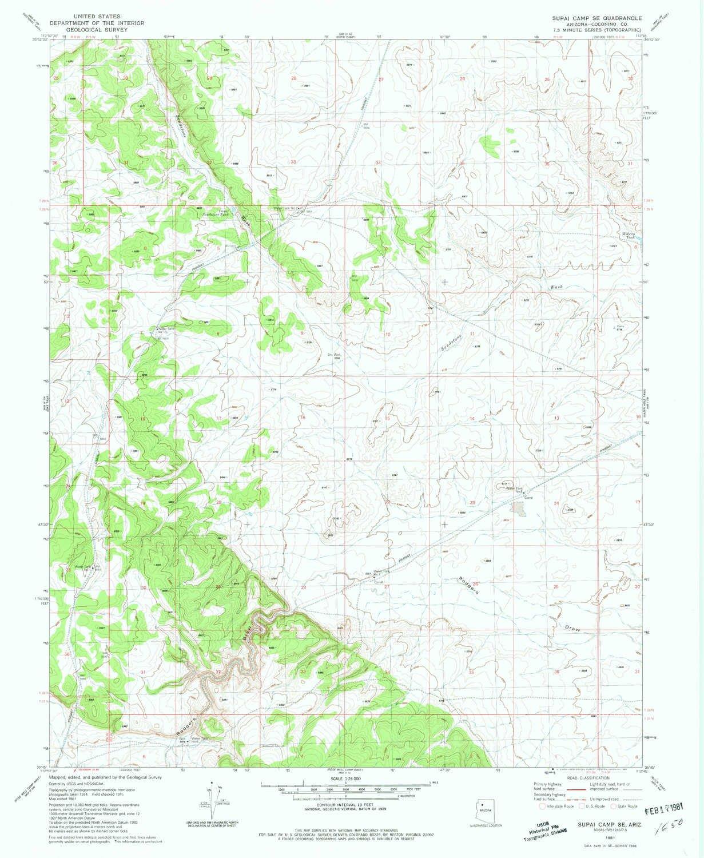 Supai Arizona Map.Amazon Com Yellowmaps Supai Camp Se Az Topo Map 1 24000 Scale