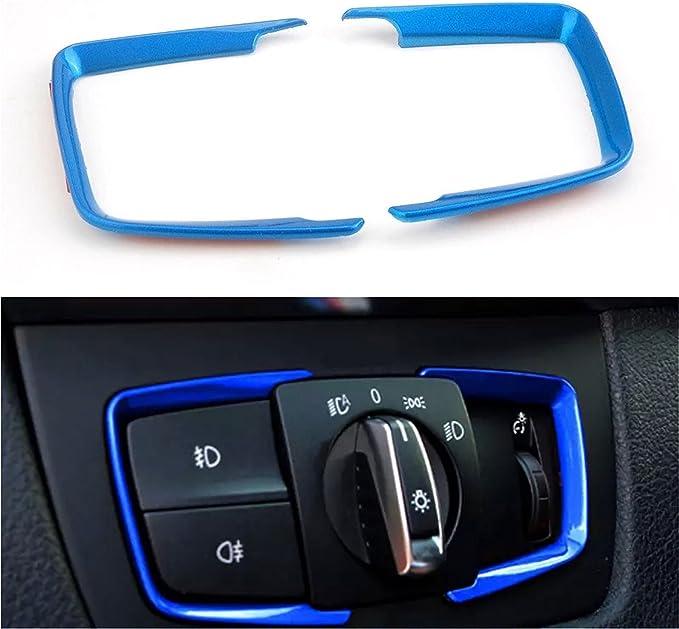Emblem Trading Lichtschalter Rahmen Blende Abs Blau Passend Für 3er F30 F31 F34 3gt 4er F36 M3 M4 Auto