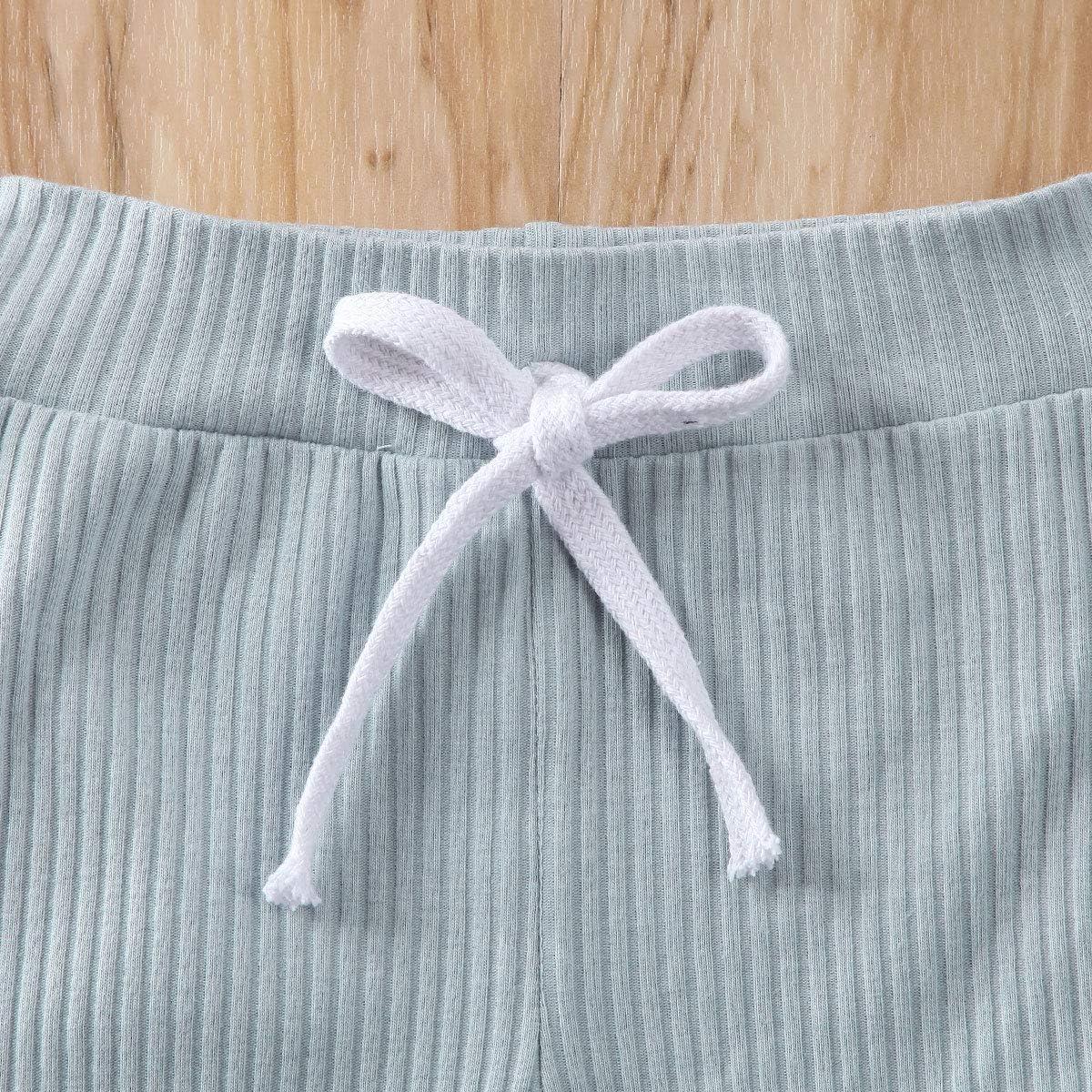 Newborn Baby Girl Boy Clothe Set Solid Short Sleeve Cotton Button Bodysuits Romper+Shorts Pant 2PCS Outfits