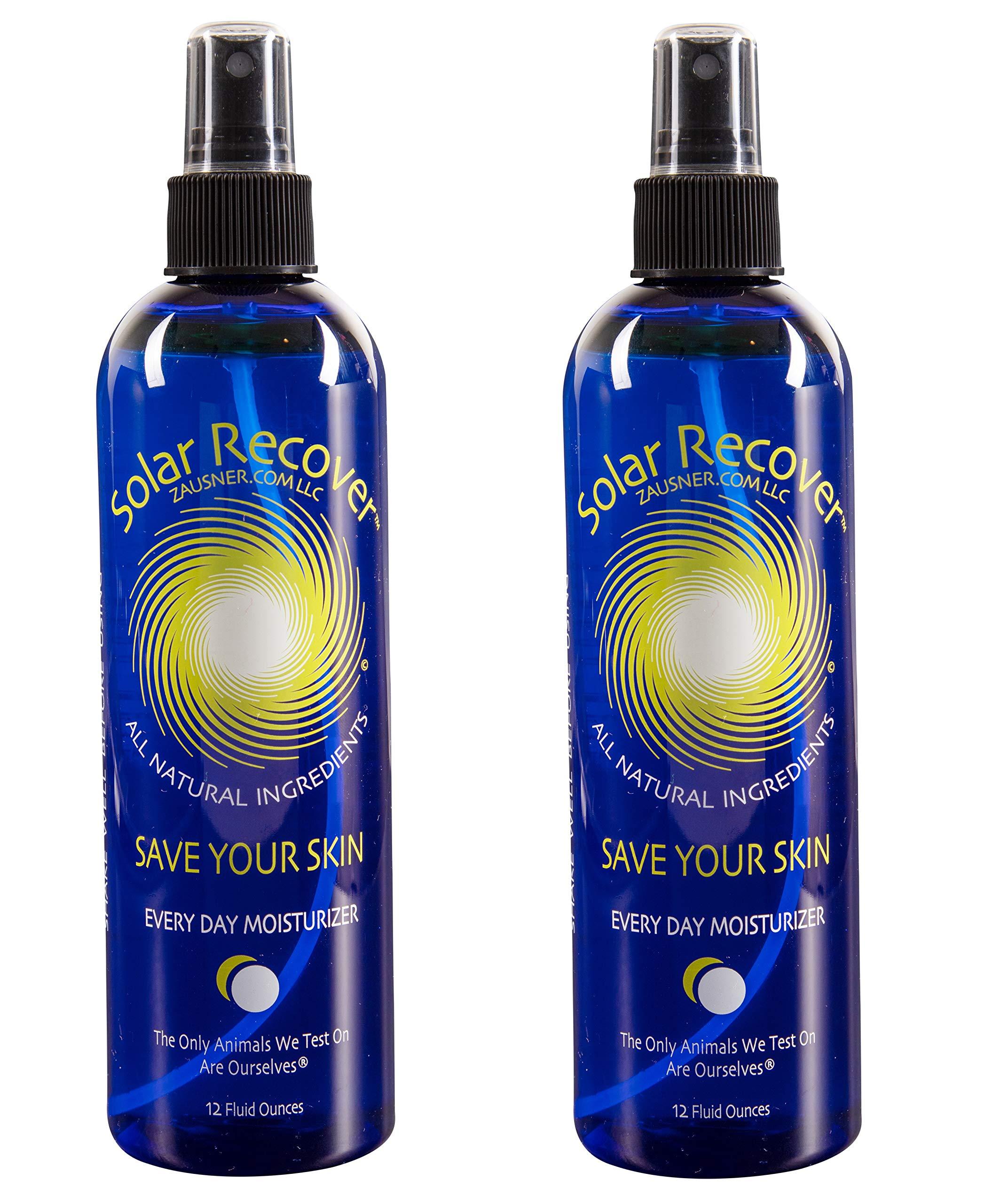 Solar Recover - After Sun Moisturizing Spray 2 Pack - (24 Ounces) - Hydrating Facial and Body Mist - 4920 Sprays of Sunburn Relief With Vitamin E and Calendula
