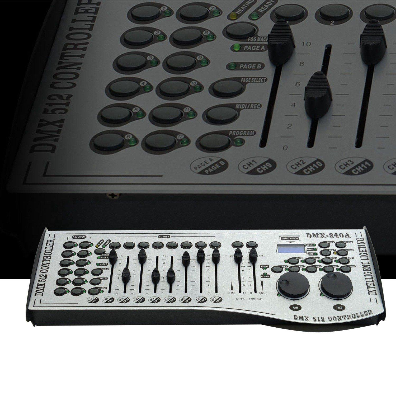 DMX 512 Controller - 12 Lights 16 Channels 240 Scenes DMX Controller for LED Stage Lighting, DJ lights, Lasers, Moving heads & Par Lights DragonX DMX.1216