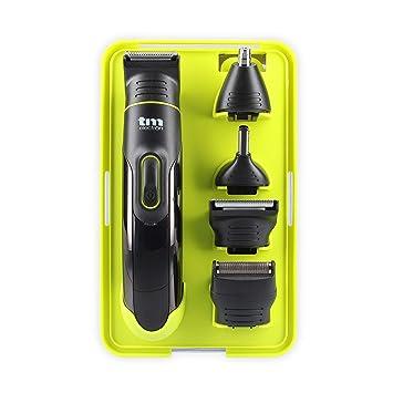 TM Electron TMHC121G - Set de arreglo personal 7 en 1 con batería de litio y resistente al agua, color verde: Amazon.es: Salud y cuidado personal