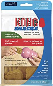 KONG - Puppy Snacks - All Natural Dog Biscuit Treats - Large (Best used with KONG Puppy Rubber Toys)