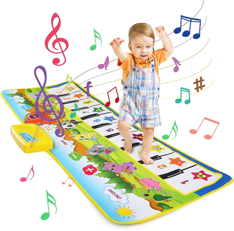 Filles et Gar/çons LEADSTAR Tapis de Musique 100x36cm 8 Sons Dinstruments Modes Multi Tapis de Danse Musicale Tapis de Sol Jouets Educatifs pour Enfants Tapis Musical B/éb/é Piano Tapis Enfants