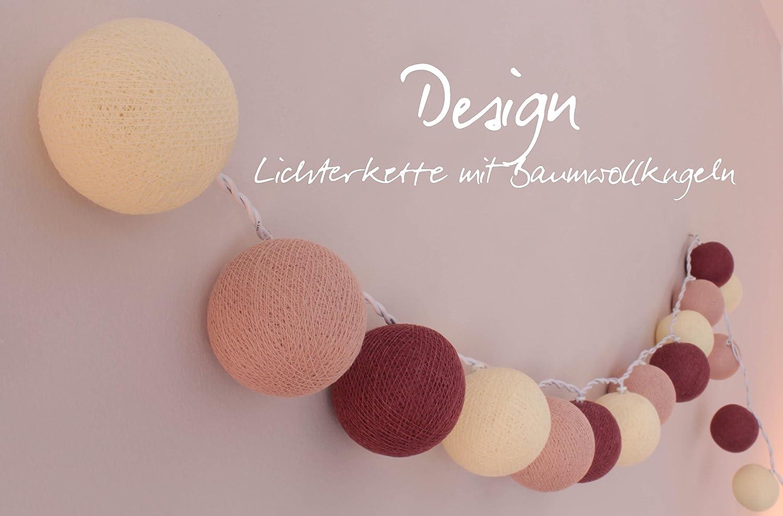 CREATIVECOTTON LED Lichterkette mit Cotton Balls inkl Timer und Dimmer Ambiance, 20 Kugeln