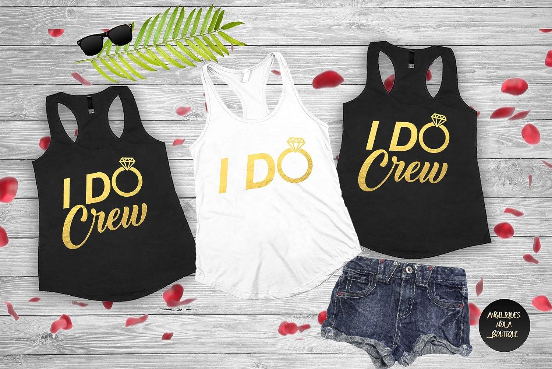 5e2c388a80824 Amazon.com  I Do Crew Shirts - Bridesmaid shirts - Bachelorette Tank Top - I  Do Crew Tank Top - Bachelorette Party Shirts - Tribe Tank Top (d2)  Handmade