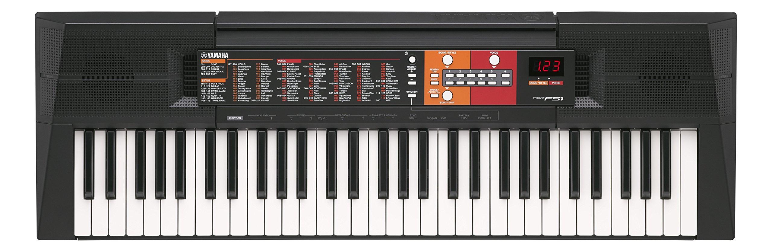 Yamaha PSRF51 61-Key Portable Keyboard, Base Model
